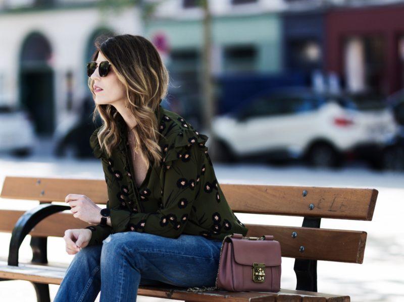 jean parfait boyfriend chemise volants sac chloé