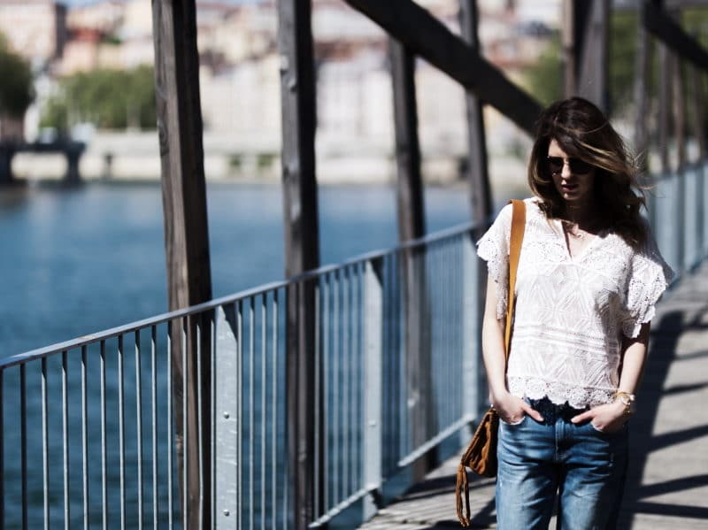 blouse crochet sandales or
