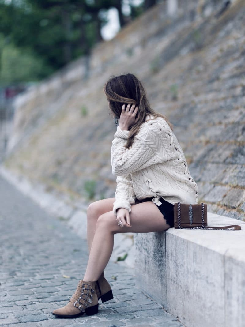 pull lacets short boots