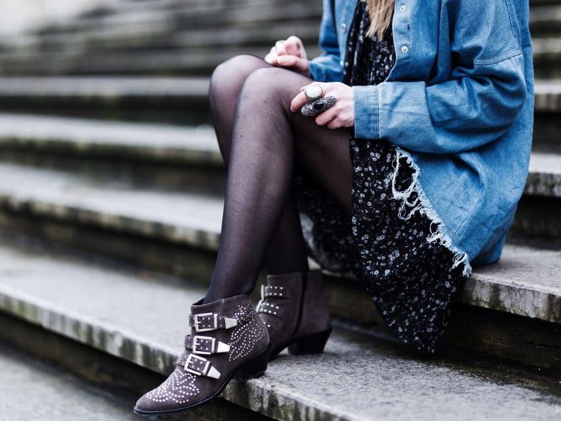 combi veste jean boots