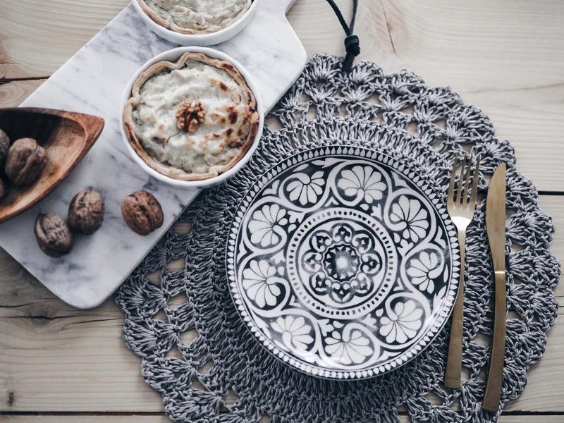 recette végétarienne tarte fenouil, fromage et noix marbre
