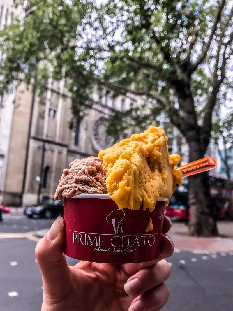 Londres végétarien bonnes adresses blog voyage By Opaline glaces prime gelato