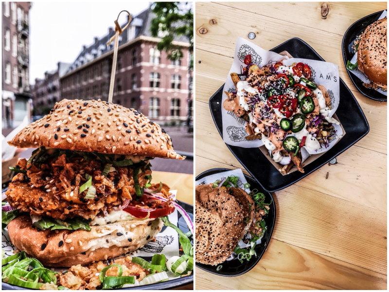 bonnes adresses Amsterdam blog voyage By Opaline vegan junk food