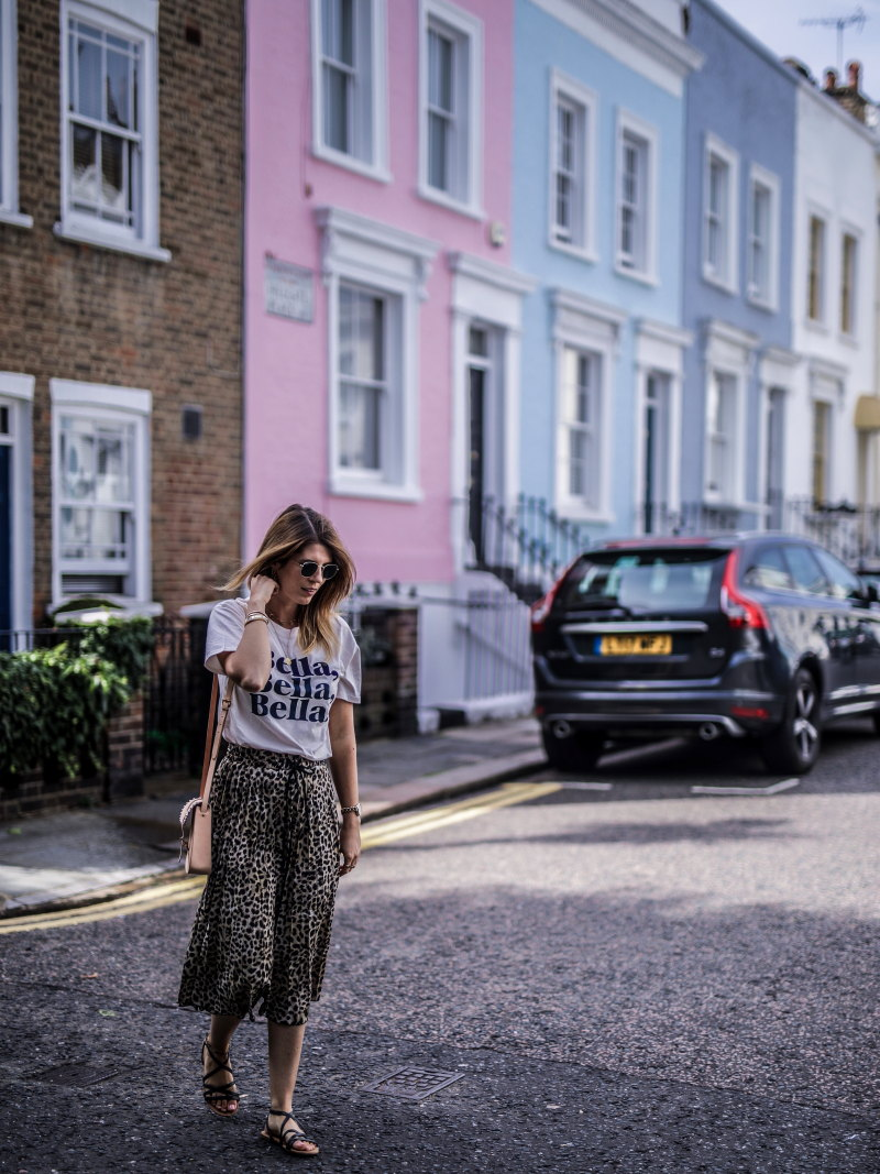 Look jupe léopard Notting Hill