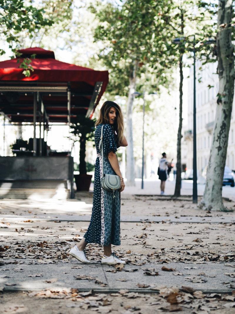 Look robe longue bohème sac chloé