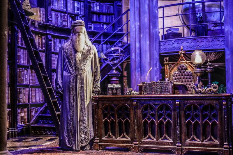Studios Harry Potter Londres bureau de Dumbledore