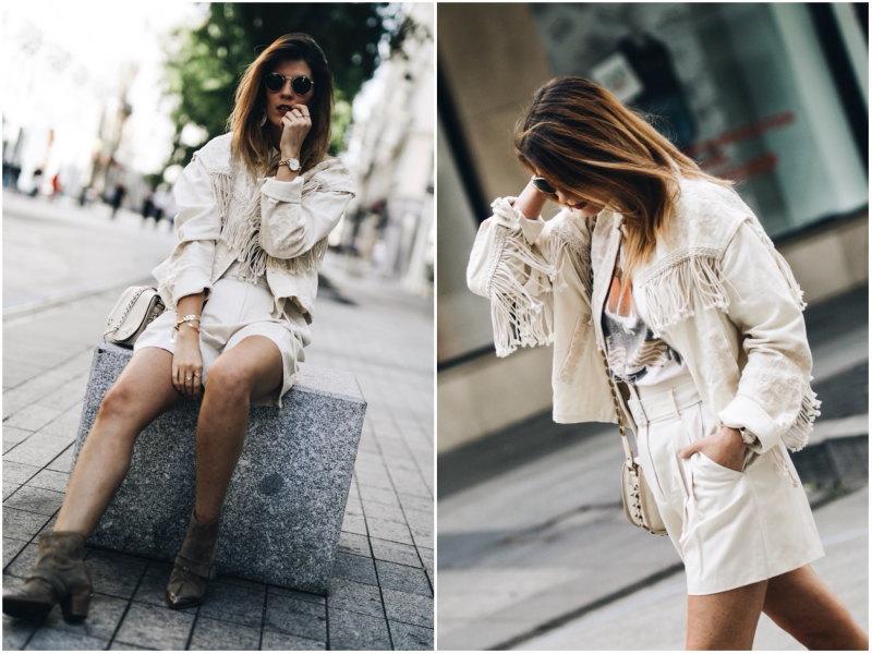 Veste à franges brodée Zara tee-shirt Anine Bing By Opaline blog