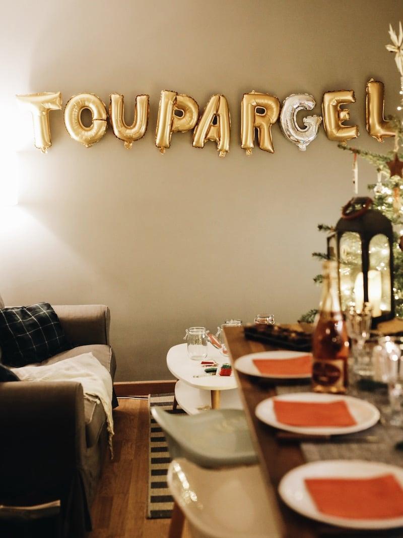 Repas de noël entre amies avec Toupargel blog lifestyle Lyon By Opaline