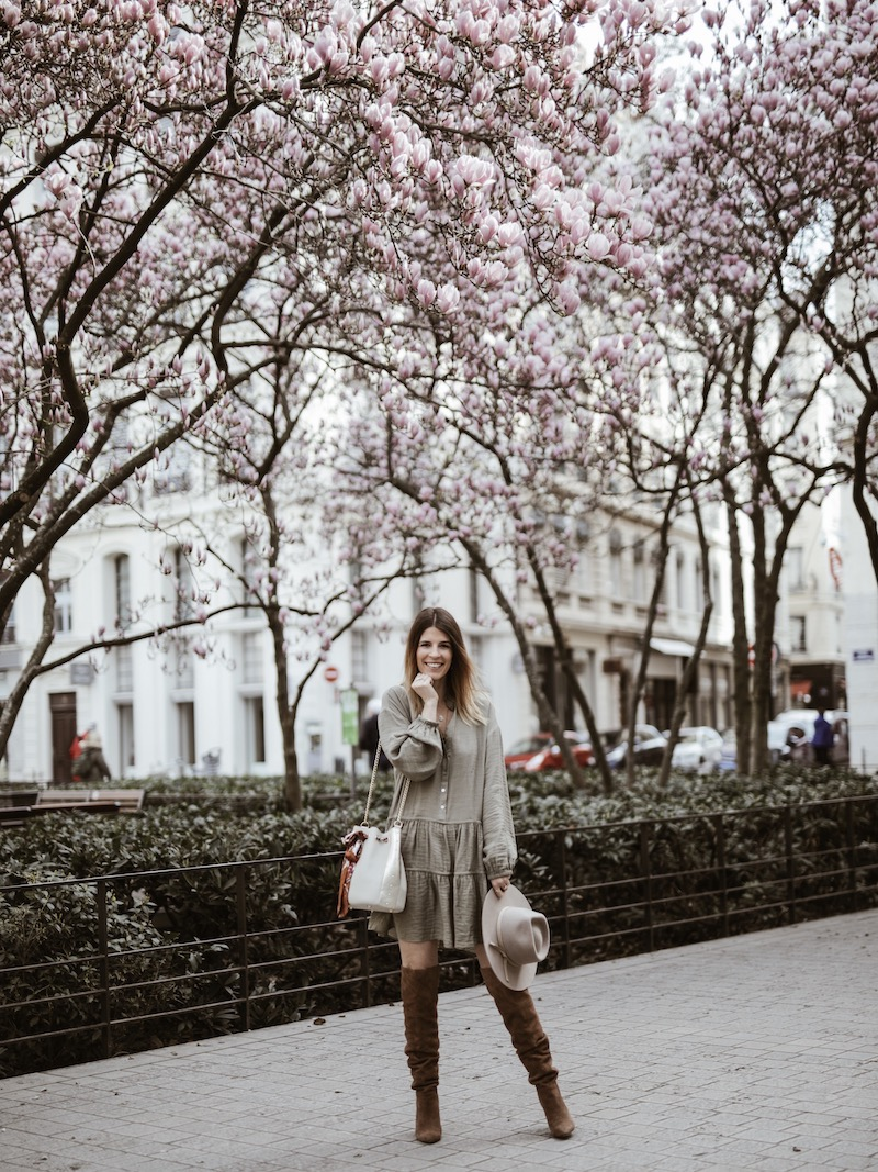 Look femme sac AMAND robe ample cuissardes blog mode France Lyon By Opaline