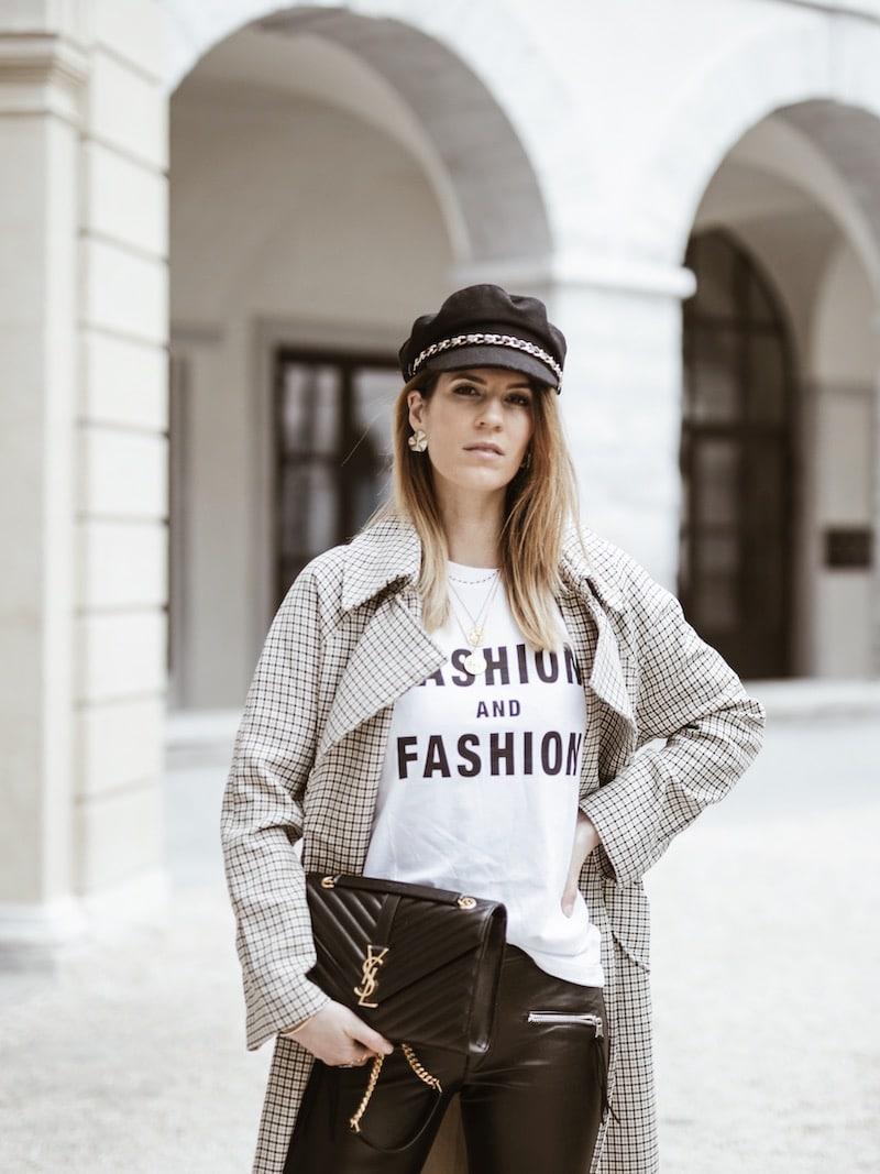 Look femme 2019 casquette et sac saint laurent blog mode France Lyon By Opaline