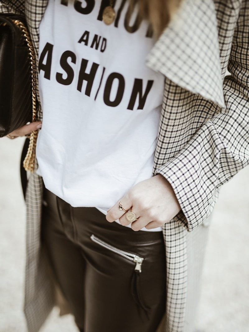 Look femme 2019 tee shirt message fashion sac saint laurent blog mode France Lyon By Opaline