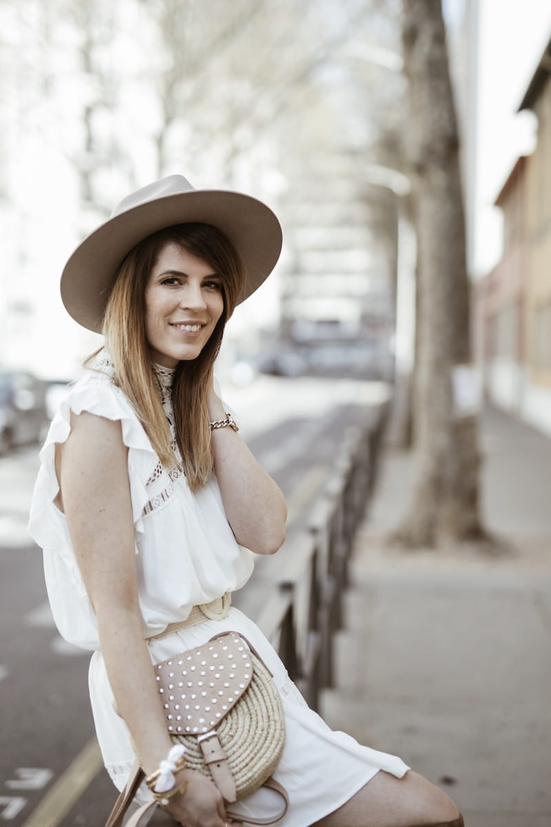 Look femme bohème printemps robe Ba&sh Zenna sac raphia Maroc blog mode Lyon France By Opaline