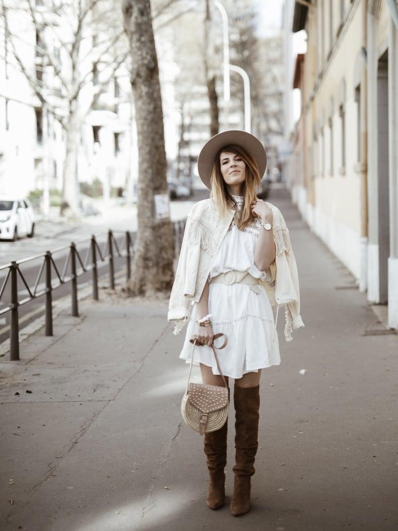 Look femme bohème printemps cuissardes sac raphia Maroc blog mode Lyon France By Opaline