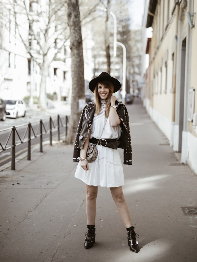 Look femme rock printemps robe Ba&sh Zenna blog mode Lyon France By Opaline