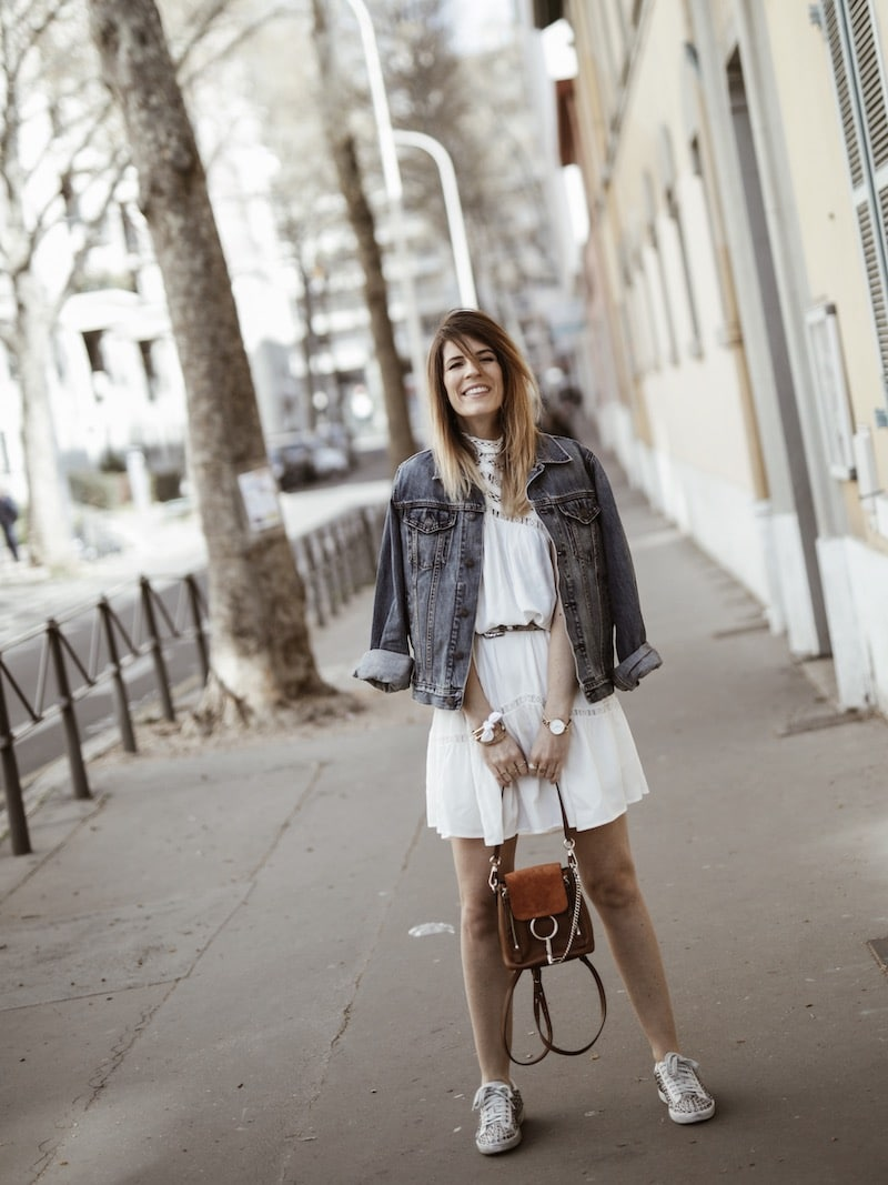Look femme casual printemps sac à dos Chloé Faye blog mode Lyon France By Opaline