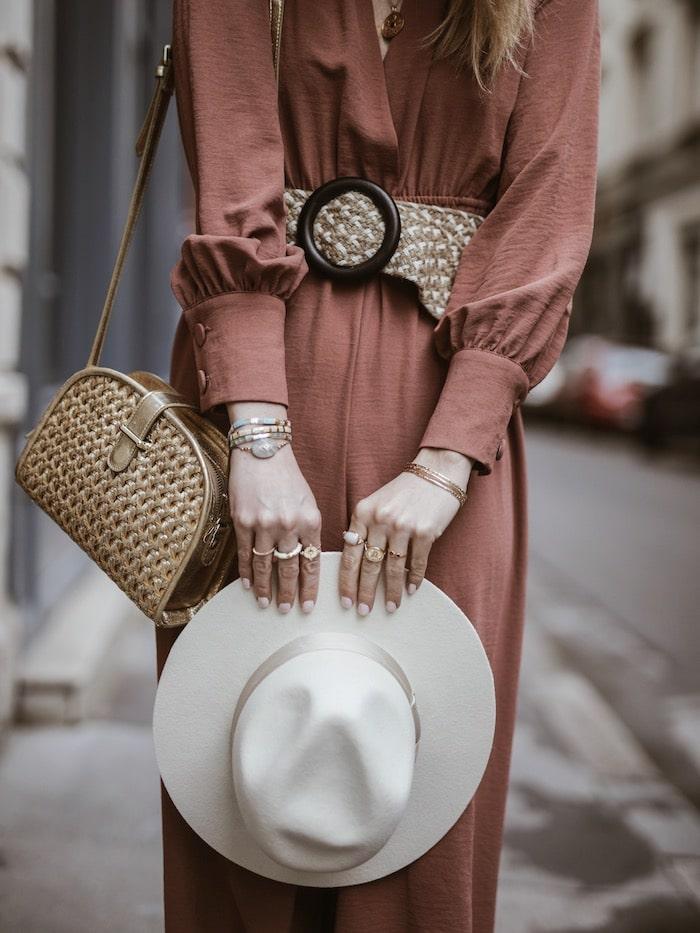 Look femme printemps 2019 accessoires sac Maradji chapeau Lack of Color blog mode France Lyon By Opaline