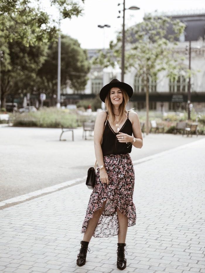Look femme printemps 2019 jupe asymétrique The Kooples blog mode France By Opaline