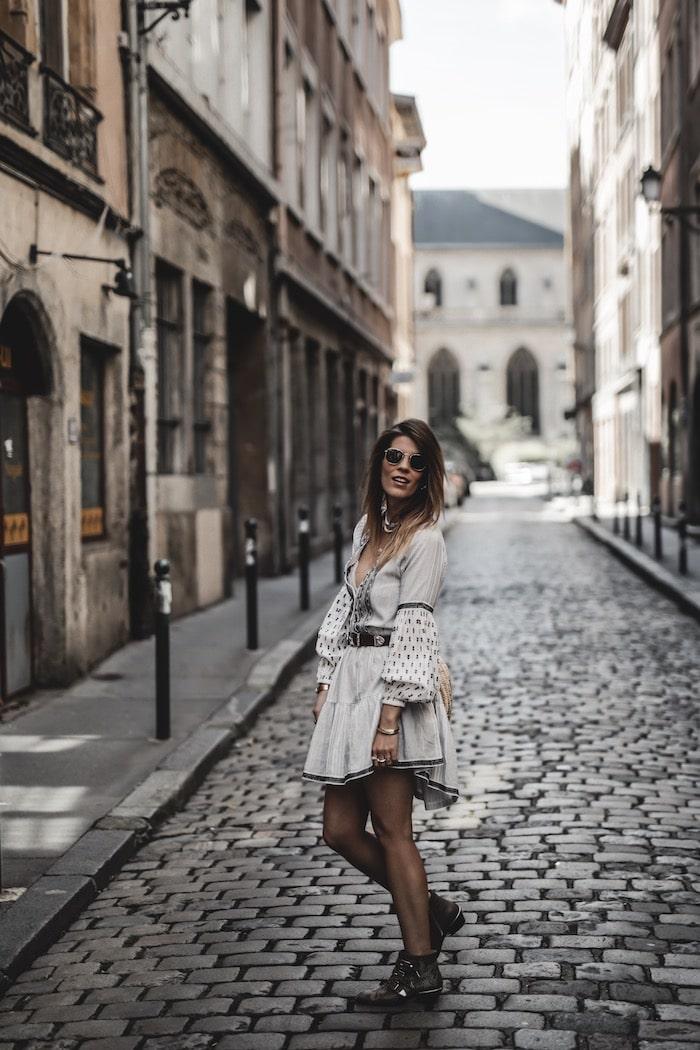 Look femme 2019 robe bohème Zara panier blog mode France Lyon By Opaline