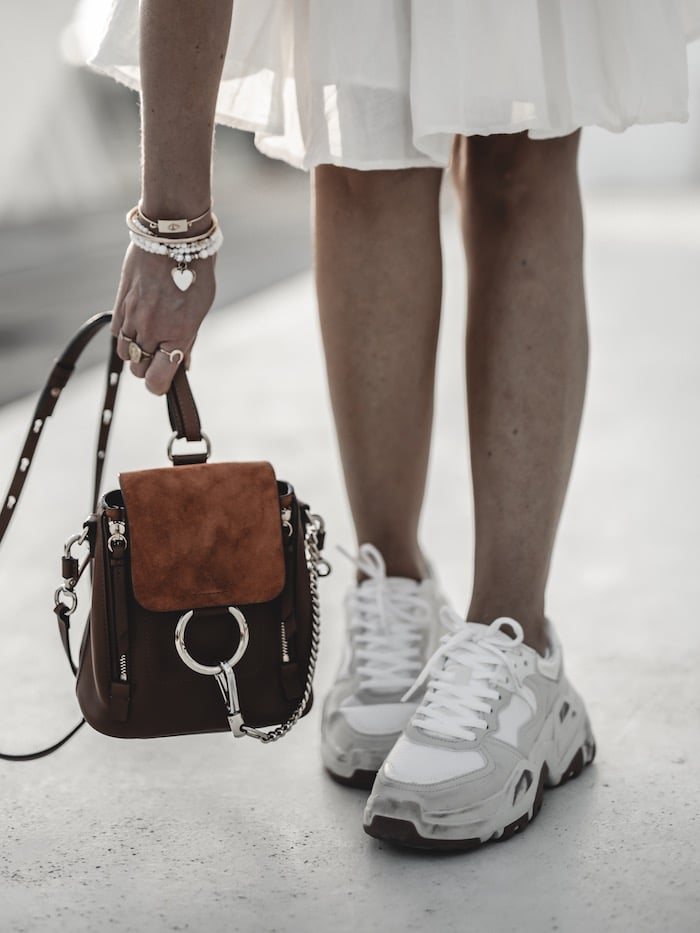 Look été summer blog mode Lyon By Opaline France sac à dos Chloé Faye mini backpack sneakers Bershka