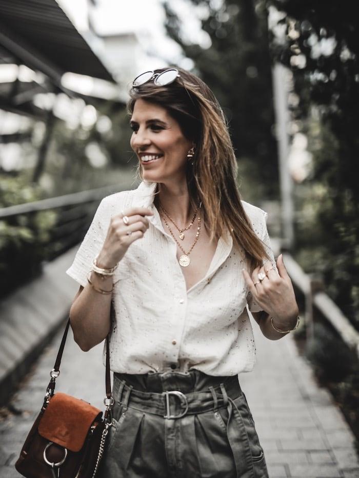 Look femme inspiration été 2019 chemise gaze de coton Pretty Wire blog mode Lyon Paris France By Opaline