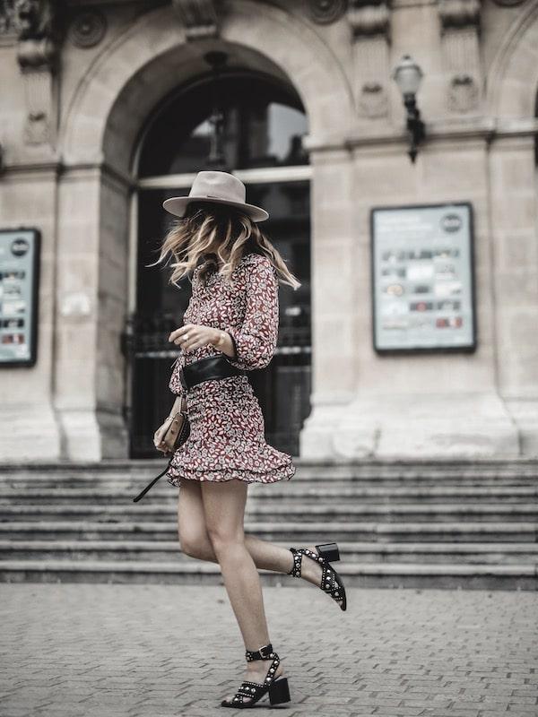 Look inspiration mode femme 2019 sandales Maje Femaextra studs blog mode Lyon France By Opaline